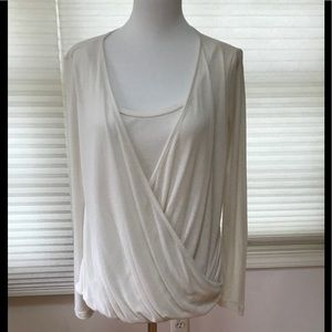 Splendid white 2-in-1 top, s size S, NWT